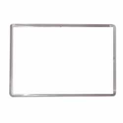 Photo d'un magnet rectangulaire en métal avec un fond blanc qui peut être personnalisé.
