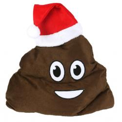 "Bonnet de Noël ""Crotte"" Emoji"