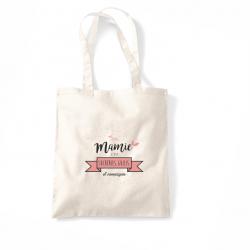 """Tote bag """"avec mamie c'est..."""