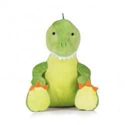 Photo de la peluche range-pyjama dinosaure verte.