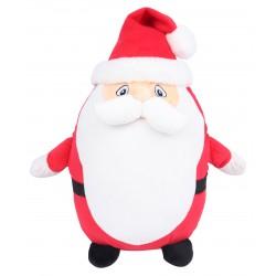 Photo de la peluche range-pyjama père Noël rouge et blanche.