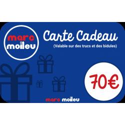 Image de notre carte cadeau Marc Moileu d'une valeur de 70 euros.