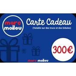 Image de notre carte cadeau Marc Moileu d'une valeur de 300 euros.