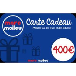 Image de notre carte cadeau Marc Moileu d'une valeur de 400 euros.